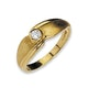 9K Gold Diamond Detail Ring - image 1