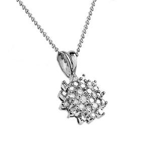Diamond 0.50ct 9K White Gold Pendant - RTC-G3241