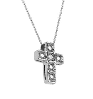 Diamond 0.15ct Platinum Cross Pendant - RTC-T3227