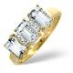 Aquamarine 1.65CT And Diamond 9K Yellow Gold Ring - image 1