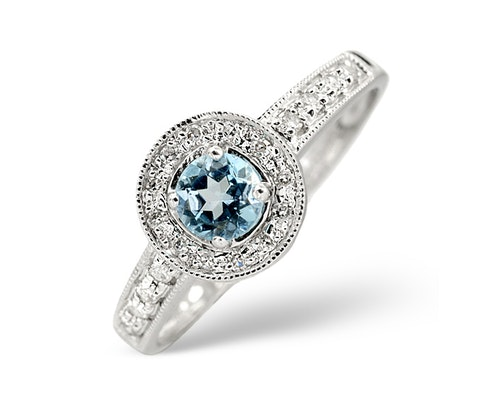 blue topaz white gold engagement rings