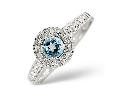 Round Cut Blue Topaz Rings