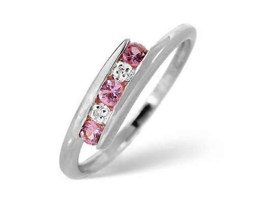 Round Cut Pink Sapphire Rings