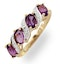 Amethyst 0.74ct And Diamond 9K Gold Ring - image 1