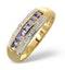 Tanzanite 0.37CT And Diamond 9K Gold Ring - image 1
