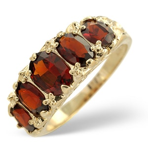 Garnet Ring 9K Yellow Gold  A3706