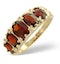 Garnet Ring 9K Yellow Gold  A3706 - image 1