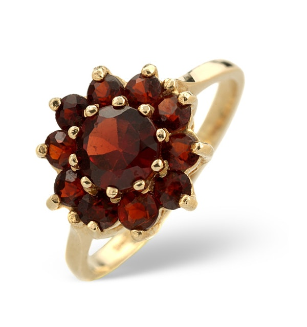 Garnet Ring 9K Yellow Gold - image 1