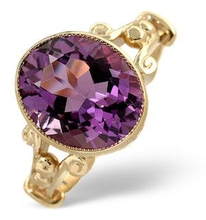 Amethyst 4.15ct 9K Gold Ring