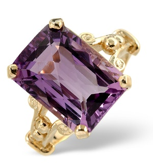Amethyst 8.3ct 9K Gold Ring