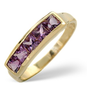 Amethyst 0.70ct 9K Gold Ring
