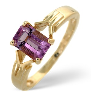 Amethyst 0.85ct 9K Gold Ring