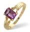 Amethyst 0.85ct 9K Gold Ring - image 1