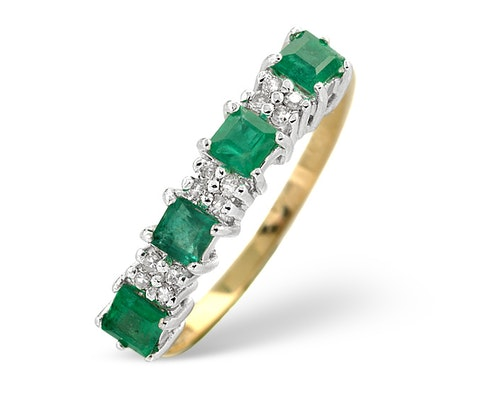 Princess Cut Emerald Rings