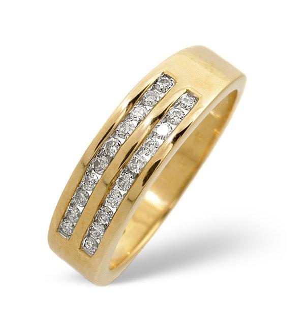 Half Eternity Ring 0.25CT Diamond 9K Yellow Gold - image 1