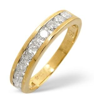 0.75CT Diamond Half Eternity Ring 18K Gold