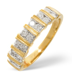 Anchor Certified 0.50 H/SI Diamond  18K Yellow Gold Ring