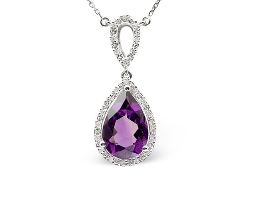 Amethyst Drop Pendants And Necklaces