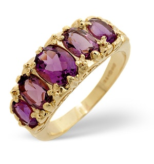 Amethyst 2.10ct 9K Yellow Gold Ring