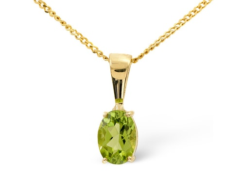 Peridot Pendants And Necklaces
