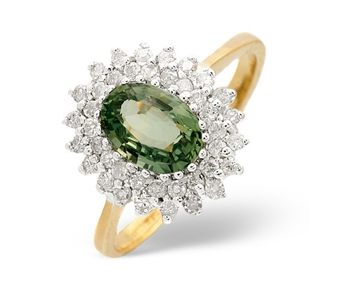 Green Sapphire Rings