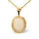 Opal 9 x 7mm 9K Yellow Gold Pendant - image 1