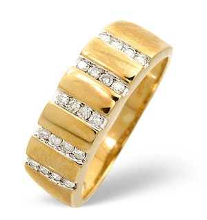 Anchor Certified 0.25 H/SI Diamond 18K Gold Ring