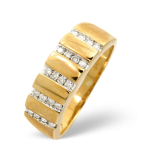 Anchor Certified 0.25 H/SI Diamond 18K Gold Ring - image 1