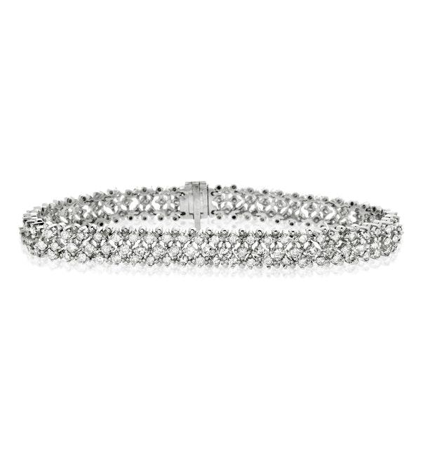 Evening Bracelet 5.50CT Diamond 18KW - image 1