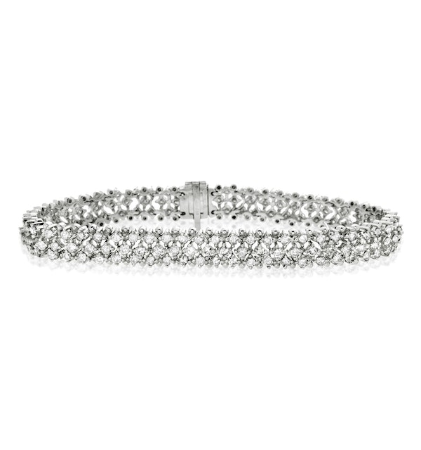 Evening Bracelet 5.50CT Diamond 18KW - image 1