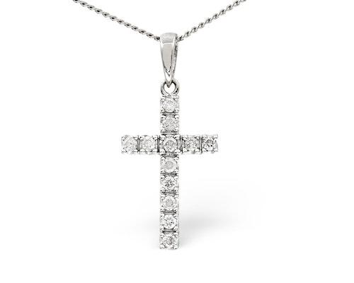 White Gold Diamond Crosses