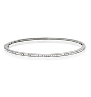 Diamond Bangle 0.40ct 9K White Gold