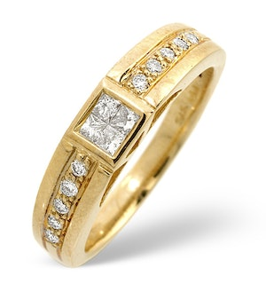 0.32ct Diamond and 9K Gold Half Eternity Ring - RTC-E4309