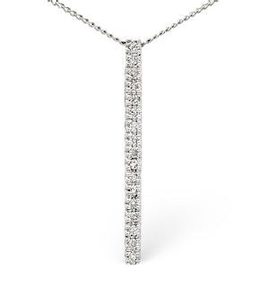 Drop Pendant 0.22CT Diamond 9K White Gold