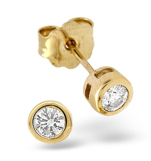 Stud Earrings 0.33CT Diamond 9K Yellow Gold