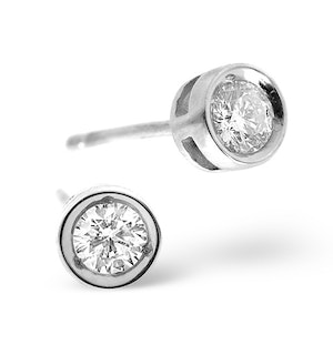 Stud Earrings 0.30CT Diamond 9K White Gold