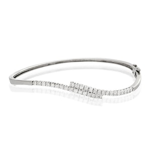 Diamond Bangle 0.50ct 9K White Gold