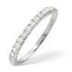 Half Eternity Ring 0.30CT Diamond 9K White Gold - image 1