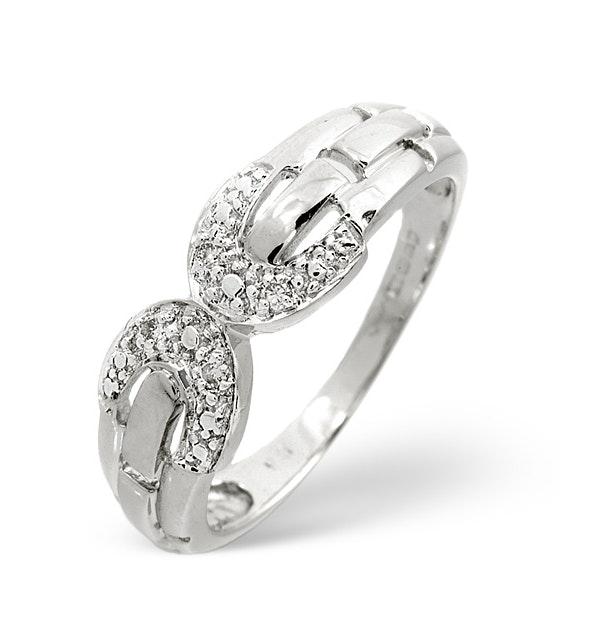 0.05ct Diamond and 9K White Gold Ring - RTC-E3009 - image 1