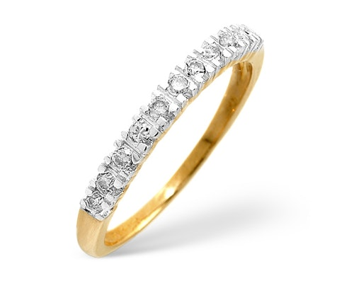 9K Gold and White Gold Wedding Rings