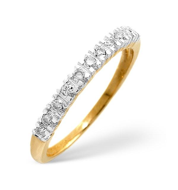 Diamond Wedding Ring 0.15CT Diamond 9K Yellow Gold - image 1