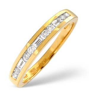 H/Si Half Eternity Ring 0.25CT Diamond 18K Yellow Gold