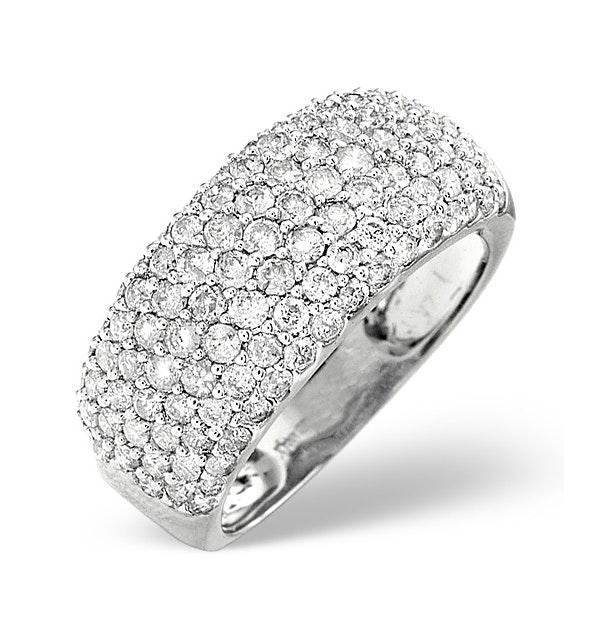 18K White Gold Diamond Ring 1.35ct - image 1