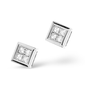 Small Fancy Earrings 0.25ct Diamond 9K White Gold