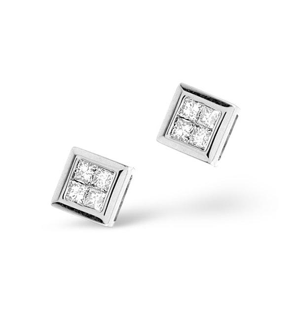 Small Fancy Earrings 0.25ct Diamond 9K White Gold - image 1