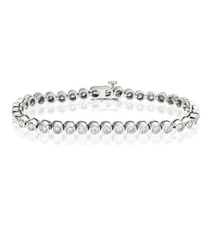 Diamond Tennis Bracelet Rubover Set 5.00ct H/Si in 18K White Gold
