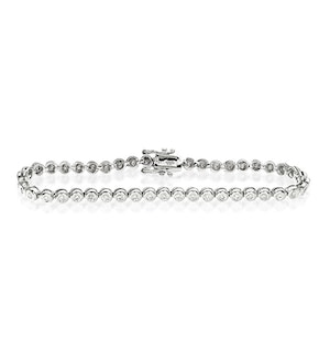 Diamond Tennis Bracelet Rubover Style 2.00ct 9K White Gold