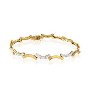 Everyday Bracelet 0.40CT Diamond 9K Yellow Gold
