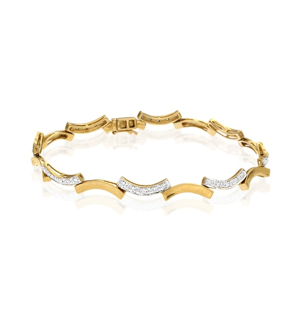 Everyday Bracelet 0.40CT Diamond 9K Yellow Gold - image 1