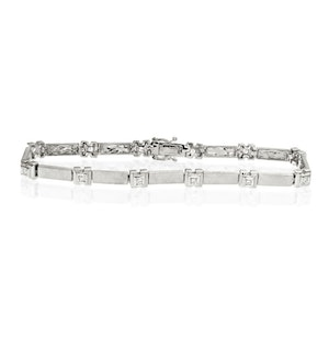 Everyday Bracelet 0.25CT Diamond 9K White Gold